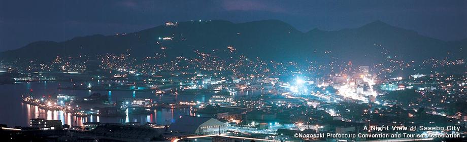 佐世保市街の夜景